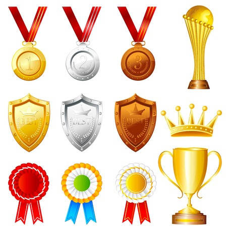 easy to edit vector illustration of Trophy and Awards Vector