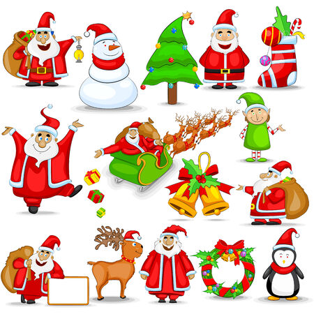 easy to edit vector illustration of Christmas design element Vector