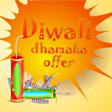 easy to edit vector illustration of Diwali Dhamaka Offer Vector