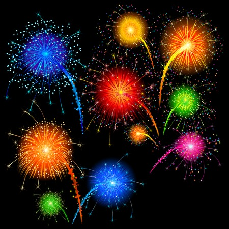 easy to edit vector illustration of colorful firework Vector