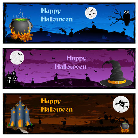 easy to edit vector illustration of Halloween banner