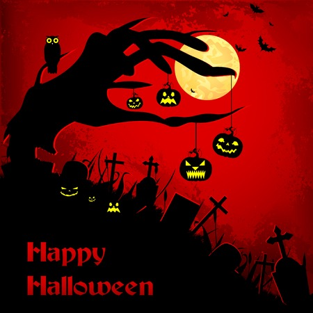 easy to edit vector illustration of Halloween background Vector