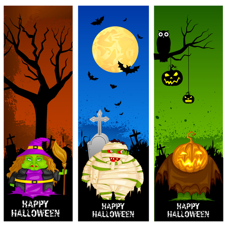 easy to edit vector illustration of Halloween banner Vector