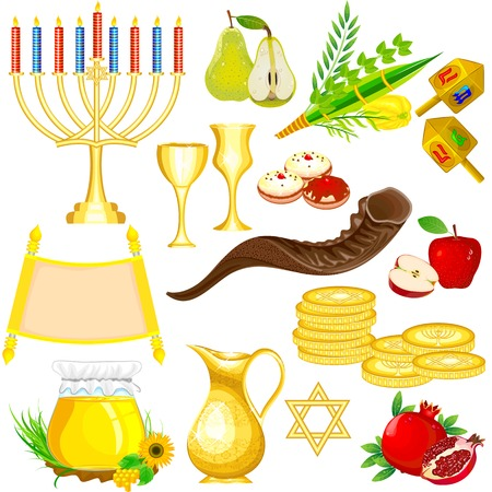 easy to edit vector illustration of Israel Festival Object