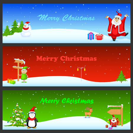 easy to edit vector illustration of Christmas Banner Vector