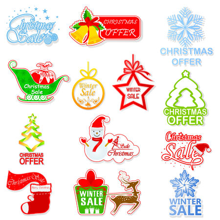easy to edit vector illustration of Christmas and Winter Sale Vector