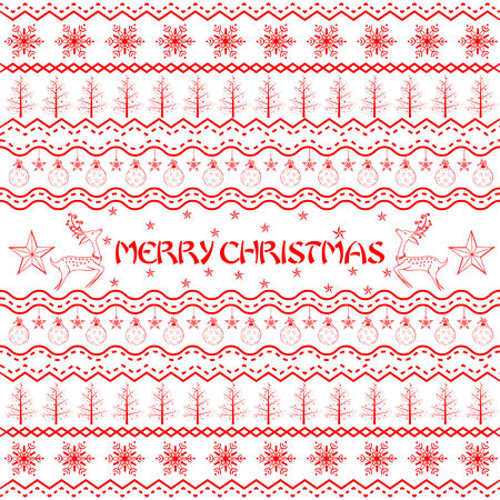 boarder: easy to edit vector illustration of Christmas Decoration Boarder Illustration