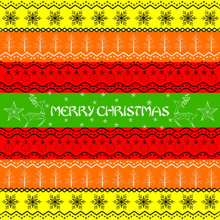 easy to edit vector illustration of Christmas Decoration Boarder Vector