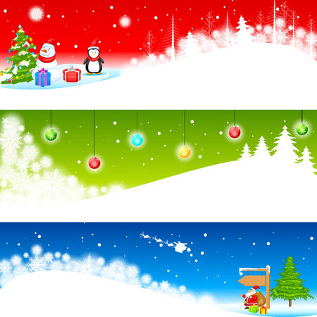 easy to edit vector illustration of Christmas Banner Stock Vector - 25663599