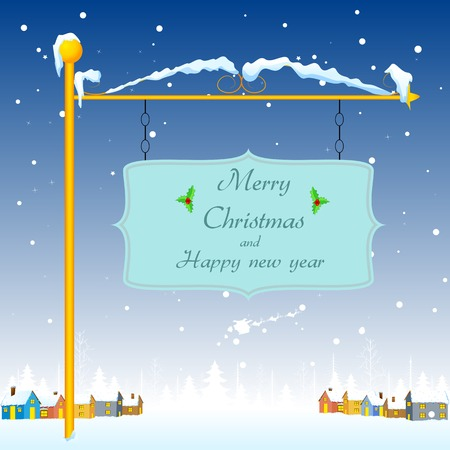 easy to edit vector illustration of Merry Christmas greeting Stock Vector - 25663663