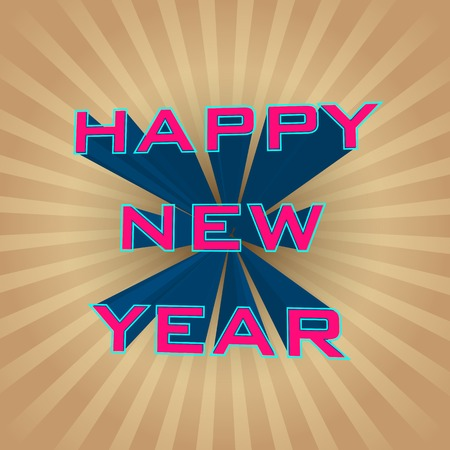 illustration editable: easy to edit vector illustration of Happy New Year