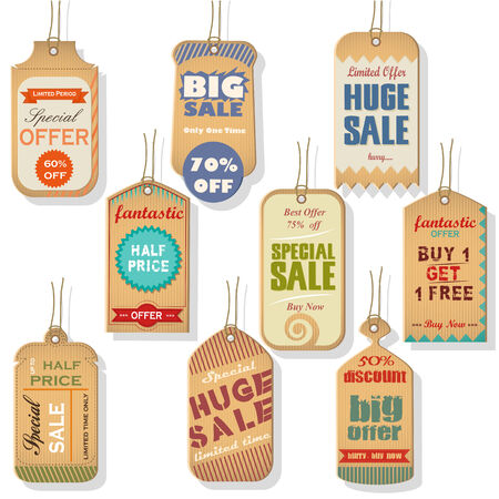 discount tag: easy to edit vector illustration of sale and discount tag for promotion