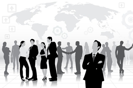 easy to edit vector illustration of business team
