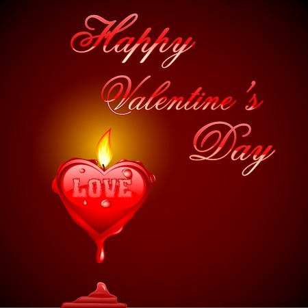 edit valentine: easy to edit vector illustration of love background with burning heart