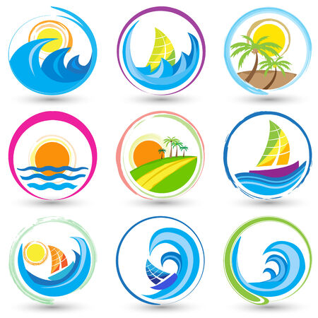 sea flowers: easy to edit vector illustration of nature icon Illustration