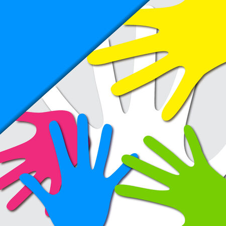 easy to edit vector illustration of colorful hand Vector
