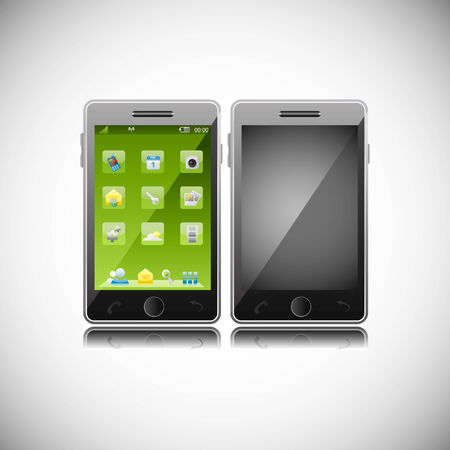 easy to edit vector illustration of smart phone with application Vector