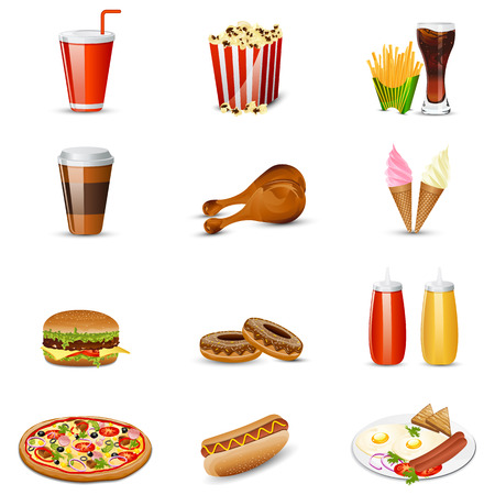 easy to edit vector illustration of fast food item Vector