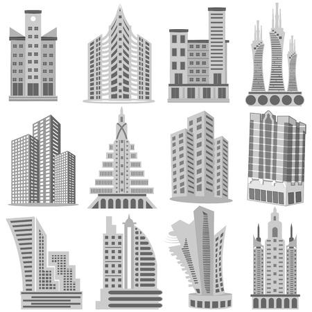 easy to edit vector illustration of Building and Skyscraper Vector
