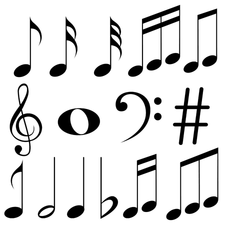 music notes vector: easy to edit vector illustration of music notes Illustration