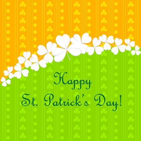 easy to edit vector illustration of Saint Patrick's Day Background Stock Vector - 25663723