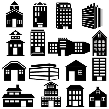 easy to edit vector illustration of Building and Skyscraper icon Vector