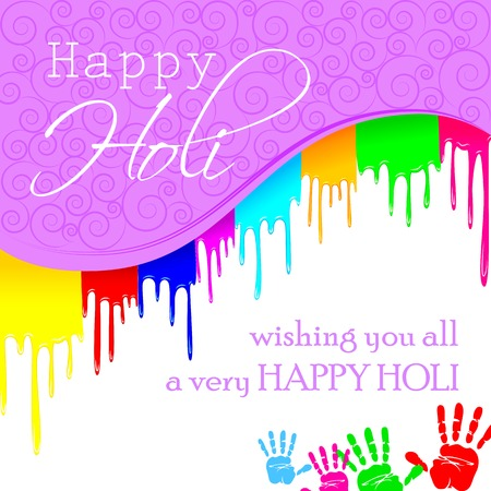 panchami: easy to edit vector illustration of colorful Holi background