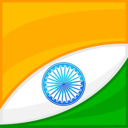 bharat: easy to edit vector illustration of Indian Flag background Illustration