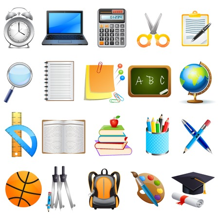 easy to edit vector illustration of education object icon Stock Vector - 25663944