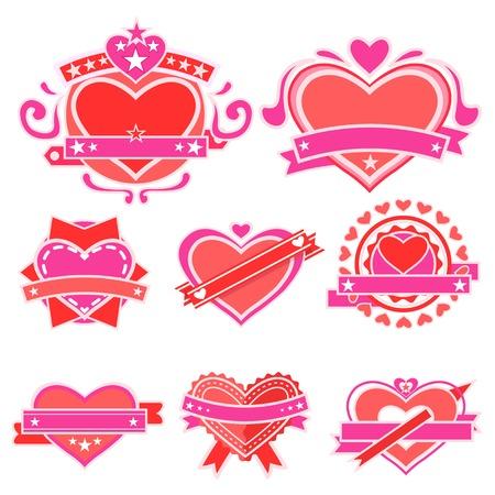 easy to edit vector illustration of love sticker