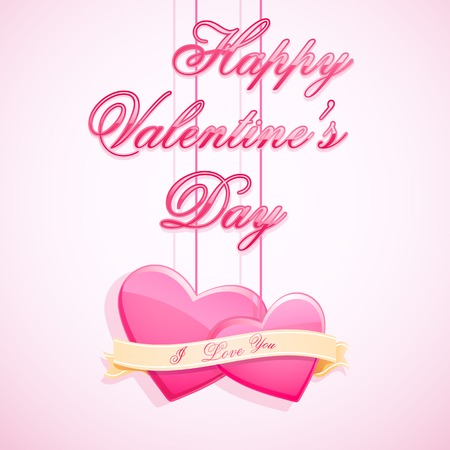 edit valentine: easy to edit vector illustration of love background with glossy heart Illustration