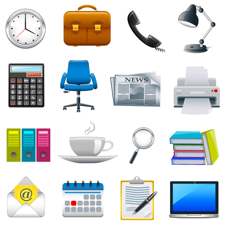 easy to edit vector illustration of office object