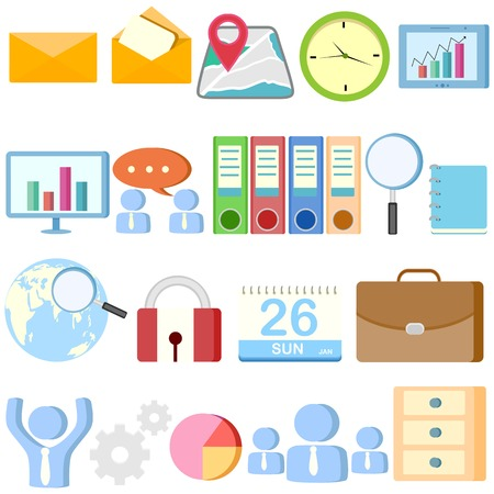 easy to edit vector illustration of Office Object collection