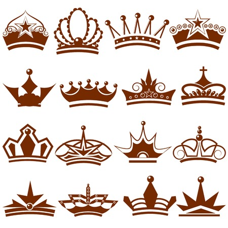 easy to edit vector illustration of Crown icon Collection Illustration