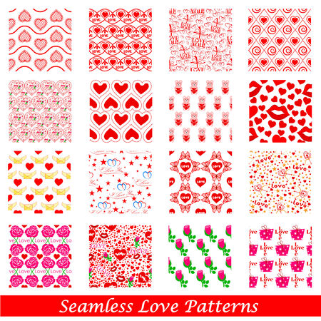 easy to edit vector illustration of Seamless Love Pattern Background Vector
