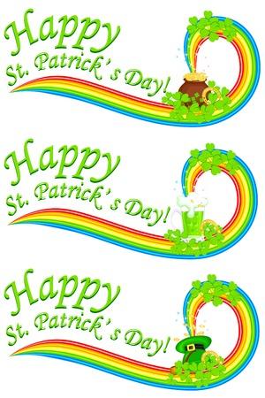 easy to edit vector illustration of Saint Patrick's Day banner Vector