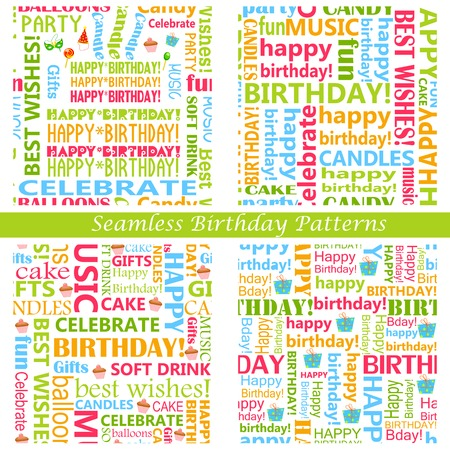 easy to edit vector illustration of Seamless Birthday Pattern Vector