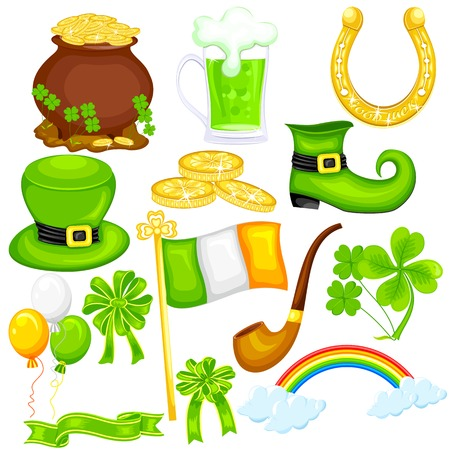 easy to edit vector illustration of Saint Patricks Day symbol Vector