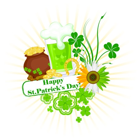 easy to edit vector illustration of Saint Patricks Day Vector