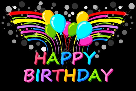 easy to edit vector illustration of Happy Birthday background Vector