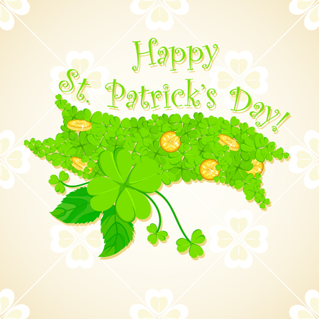 easy to edit vector illustration of Saint Patricks Day Background Vector