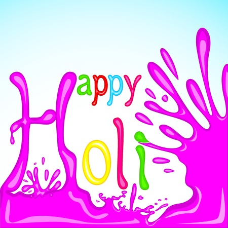 easy to edit vector illustration of colorful Holi background Vector