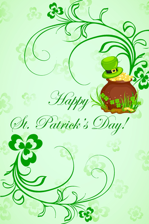 easy to edit vector illustration of Saint Patrick's Day Vector
