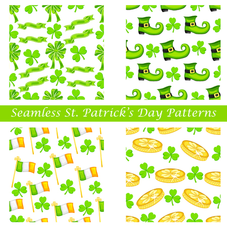 easy to edit vector illustration of Saint Patrick's Day seamless pattern Vector
