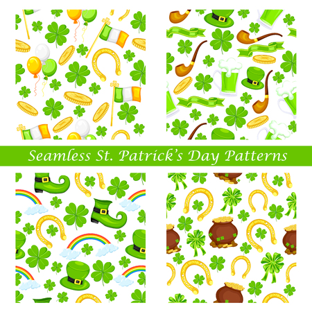 easy to edit vector illustration of Saint Patricks Day seamless pattern Vector