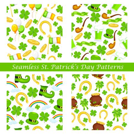 illustration editable: easy to edit vector illustration of Saint Patricks Day seamless pattern