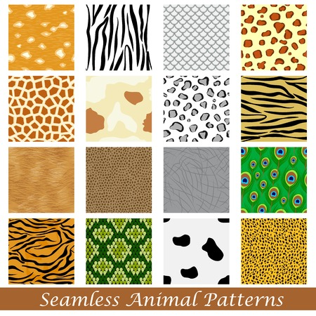 easy to edit vector illustration of animal skin seamless pattern