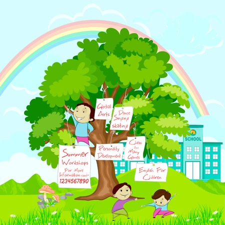 campamento de verano: f�cil de editar ilustraci�n vectorial del cartel de campamento de verano Vectores