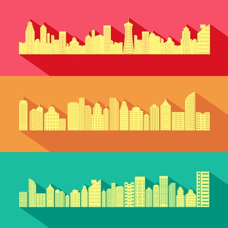 storey: easy to edit vector illustration of Cityscape with Skyscraper Building