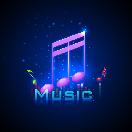 musical band: easy to edit vector illustration of abstrac musical background with music notes